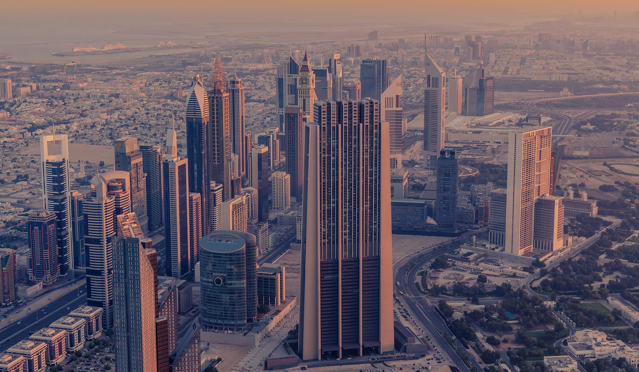 Photo vue du ciel Dubaï